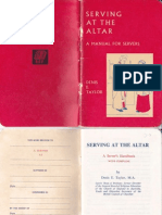Serving at the Altar - A Manual for Servers