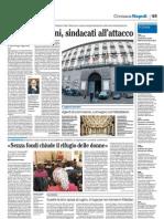 il_Mattino-Caso fannulloni, sindacati all'attacco