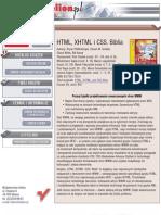 HTML, XHTML i CSS. Biblia - Helion