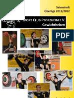 Sport Club Pforzheim e.V. - Heberheftle - Saison 2011/ 2012
