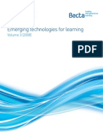 emerging technologies for learning volume 3- ( 2008) - full report