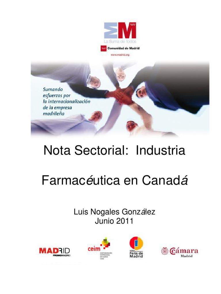 Nota sectorial: el sector farmacéutico en Canadá