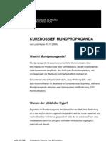 Fact Sheet Mundpropganda und Empfehlungsmarketing im Internet