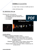 El Universo.La Tierra, los planetas y la luna. Tema de 4º de cono