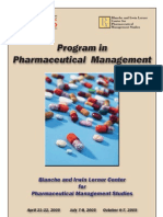 Pharma Workshop Spring Fall 2005 Brochure