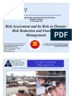 Risk Assessment and its Role in Disaster Risk Reduction and Emergency Management (Heather Bell)