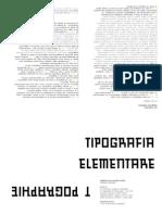 Tipografia delle relazioni logiche / Tipografia elementare