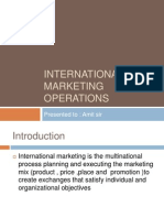 process of international marketing