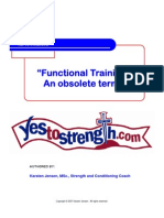 Functional Training an Obsolete Term