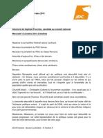 JDCVR Fournier - Discours 121011