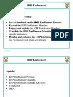 IDIP PMU Enablement Log Frame Presentation to Province 21