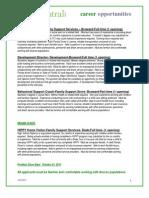 FCI Career Opportunities October 2011