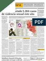 Se han reportado 5,286 casos de violencia sexual este año