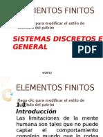 Los Sistemas Discretos en General