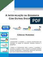 A Inter-relação da Geografia Com Outras Disciplinas - Profº Valter