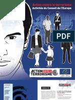 Action contre le terrorisme - Activités du conseil de l'Europe