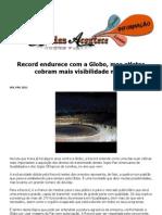 Record Endurece Com a Globo, Mas Atletas Cobram Mais Visibilidade Na TV