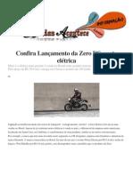 Confira Lançamento da Zero DS; moto elétrica