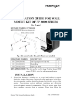 Installation Guide for Wall Mount Kit of Pp-8000 Series