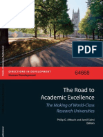The Road to Academic Excellence-The Making of World-Class Research Universities