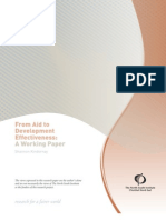 From Aid to Development Effectiveness