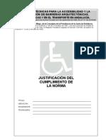 Justificación Normas Técnicas Accesibilidad