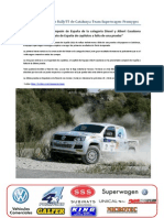 Comunicado Previo Rally TT Les Comes Team Superwagen-Promyges