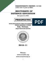 Ous Prospectus 2010