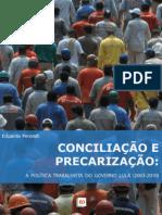 Conciliação e Precarização