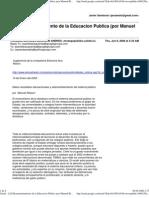 Desmantelamiento de la Educacion Publica