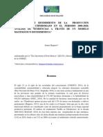 Artículo científico la curva del banano en Chimborazo