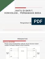 Psd-sistem Waktu Diskrit, Konvolusi Persamaan Beda