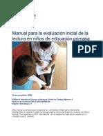 Manual para la evaluación inicial de lalectura en niños de educación primaria