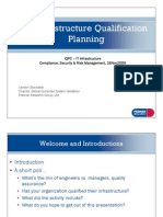 IT Infrastructure Qualification Planning