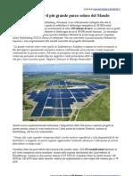 Parco Solare più Grande del mondo