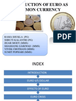 Euro Currency Ppt