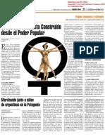 Socialismo feminista construido desde el Poder popular y Marchando junto a miles de argentinas en la Patagonia
