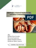 Etiología criminal Inicio de los estudios Criminológicos t. grupal
