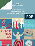 Levantamento de Governança de TI 2010