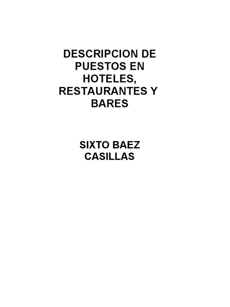 100 Descripciones Puestos en Hotel