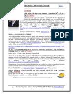 GSA Announcements October17th 2011