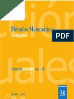 Metodos Matematicos Para Estadistica