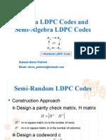 Algebra LDPC Codes and