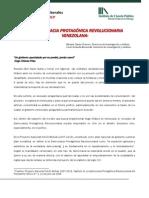 La Democracia Protagonica Revolucionaria Venezolana