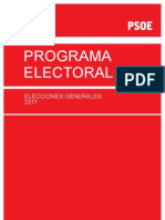 Programa Electoral del PSOE Elecciones Generales del 2011
