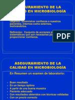 ASEGURAMIENTO DE LA CALIDAD EN MICROBIOLOGÍA