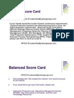 BSC - Balanced Score Card