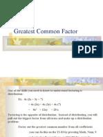 Algebra 1 > Notes > YORKCOUNTY FINAL > YORKCOUNTY > Greatest Common Factor