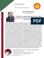 CPSGG Shell Colloquium Fall '11 - 10/20 David Peate
