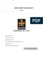 MB0050 Research Methodology Fall 10